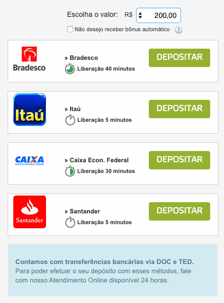 transferencia bancária betmotion depositar bradesco itaú caixa santander