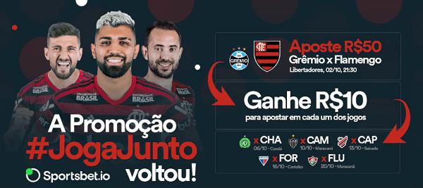 Ganhe 5 freebets de R$ 10 para apostas nos jogos do Flamengo