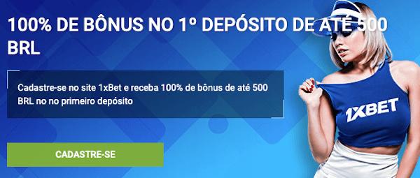 1º depósito 1xbet bonus Brasil