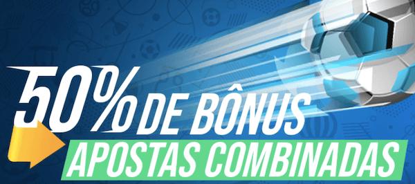 50% bonus apostas combinadas Rio Aposta