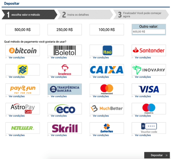 rivalo transferencia bancaria depositar
