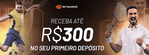 primeiro deposito betwarrior bonus boas-vindas R$ 300