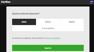 cartoes betway visa depositar