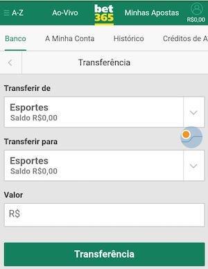 transferencia bancaria bet365 deposito