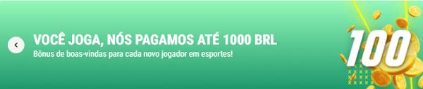 Promoção de Boas-vindas do Parimatch com 100% de bônus até R$ 1000