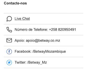 suporte ao cliente betway moçambique live chat