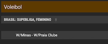 odds brazino final superliga feminina 01/04/21