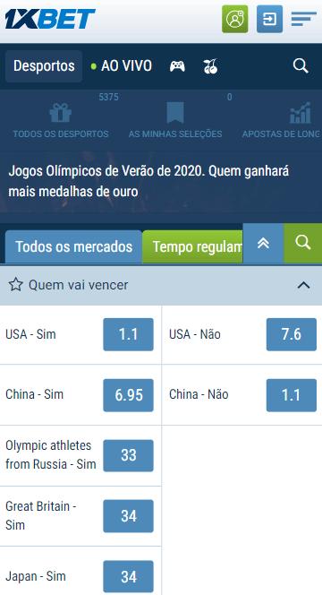 odds 1xbet para o jogo 6 da final da NBA, Olimpíada de Tóquio, Oitavas de final da Libertadores e Copa Sul-Americana